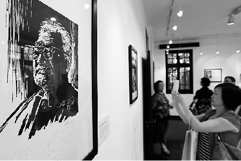 巴金收藏的名家书画在杭展出