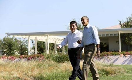 """习近平主席与奥巴马总统举行""""庄园会晤"""""""