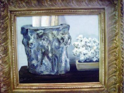 盛梅冰油画