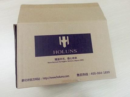 维诗达手表使用豪伦诗品牌专用纸箱包装.