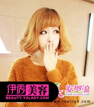 齐刘海+短发梨花头-甜美齐刘海发型 减龄修颜好帮手