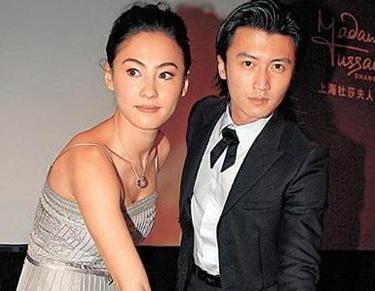 张栢芝和谢霆锋。(图片来自台媒)