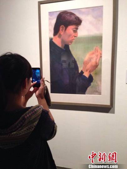 第四届中国(杭州)国际当代优秀水彩画家提名展开幕。 郭丽丽 摄