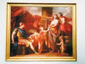 《维纳斯将海伦介绍给帕里斯》油画