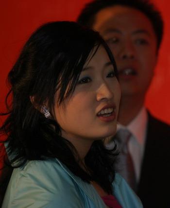 罗雪娟在2005年体坛风云人物颁奖盛典上。