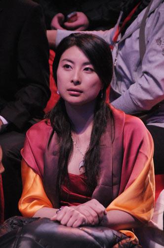 郭晶晶在2008年体坛风云人物颁奖盛典上。
