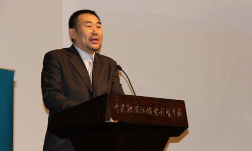 中央电视台副台长高峰在活动现场致辞