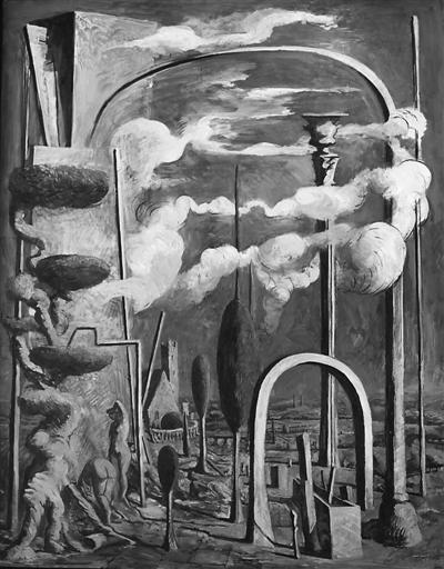 法国艺术家雷米·阿融2012年作品《风景中的建筑物构件》。 主办方供图