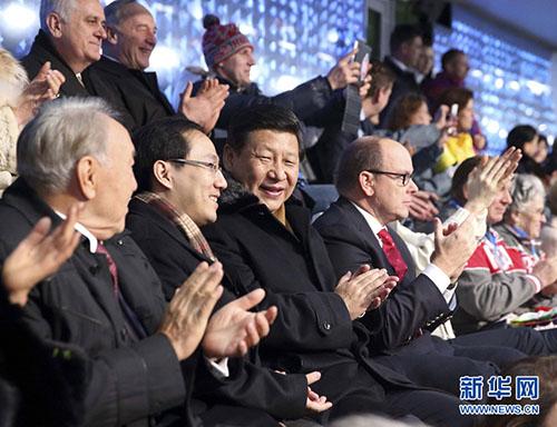 当地时间2月7日晚8时14分,北京时间8日零时14分,第二十二届冬季奥林匹克运动会在俄罗斯索契隆重开幕。国家主席习近平应俄罗斯总统普京邀请出席开幕式。