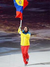 委内瑞拉选手帕尔多自己担任旗手现身开幕式。