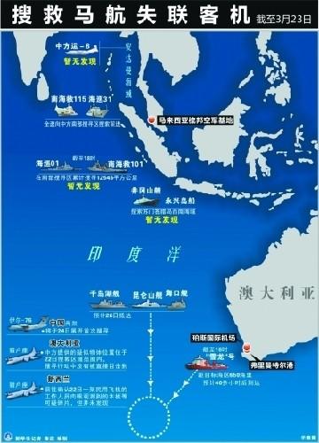对马航失联客机的搜索有三个重大进展