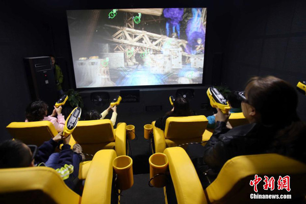 A theater showing 7D movies has opened in Taiyuan, the capital of North China's Shanxi Province.