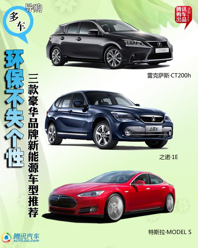 三款豪华品牌新能源车型推荐 环保不失个性