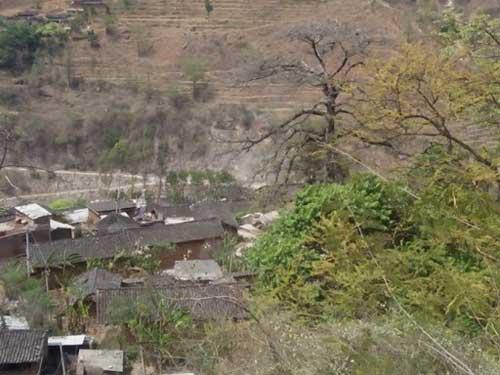 落后美丽的村庄