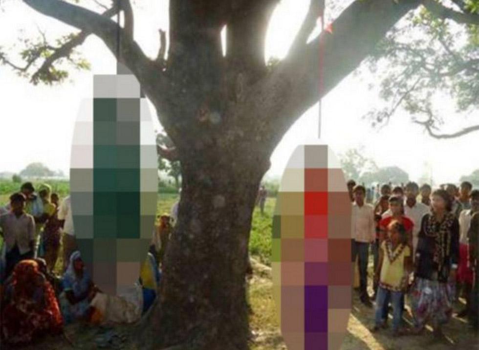 印度轮奸未成年姐妹 将尸体吊树上引众怒