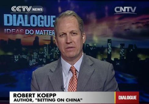 """Robert Koepp, Author """"Betting on China"""""""