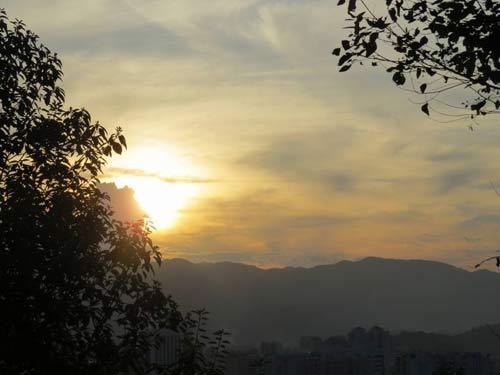 山城的傍晚