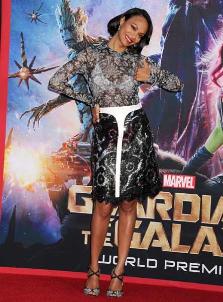 Zoe Saldana at the premiere of