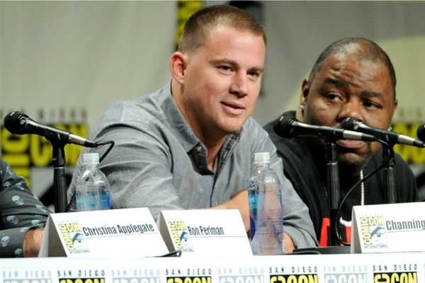 """Channing Tatum is also at Comic-Con in San Diego to promote his voice role in """"Book of Life."""""""