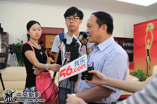 亚洲微电影艺术节组委会常务副主席、云南省文化厅厅长黄峻接受采访