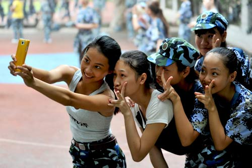 2013年9月拍于广西幼儿师范高等专科学校新生军训