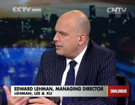 Edward Lehman, Managing Director, Lehman, Lee & Xu