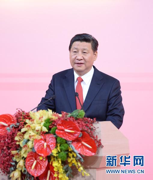 12月19日,国家主席习近平出席澳门特别行政区政府欢迎晚宴并发表重要讲话。 新华社记者李涛摄