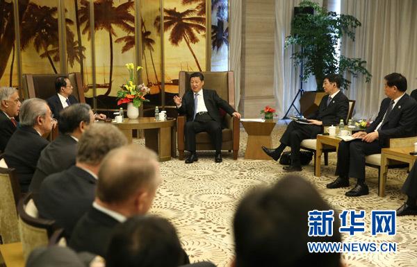 习近平会见博鳌亚洲论坛理事会成员