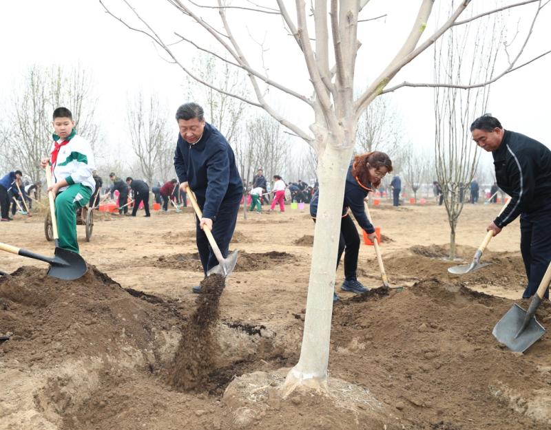 习近平在参加首都义务植树活动时强调 像对待生命一样对待生态环境 让祖国大地不断绿起来美起来