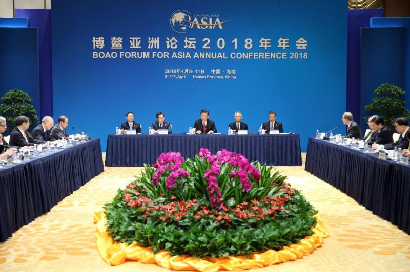 4月11日,国家主席习近平在海南省博鳌国宾馆集体会见博鳌亚洲论坛现任和候任理事。