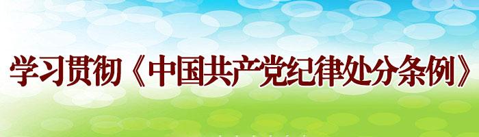 学习贯彻《中国共产党纪律处分条例》