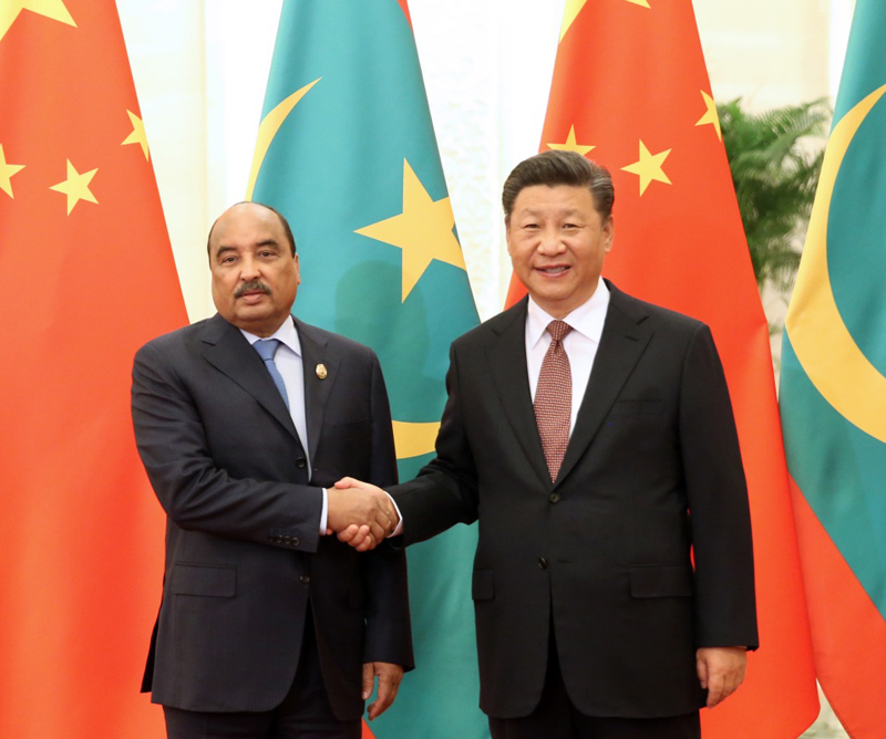 9月2日,国家主席习近平在北京人民大会堂会见毛里塔尼亚总统阿齐兹。新华社记者 姚大伟 摄