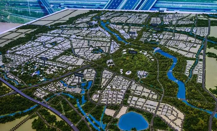 北京城市副中心规划沙盘。
