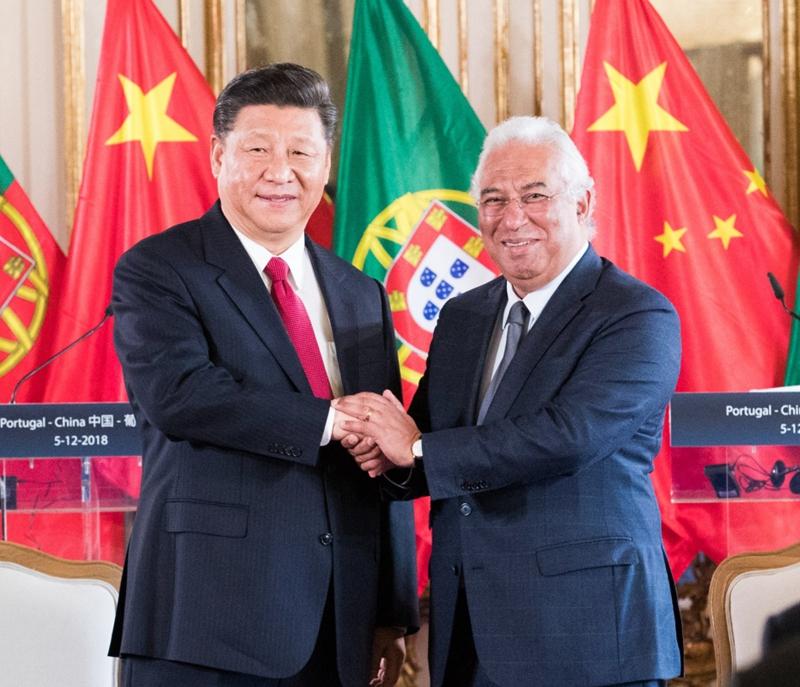 当地时间12月5日,国家主席习近平在里斯本会见葡萄牙总理科斯塔。