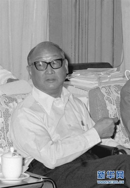 这是王宽诚资料照片。新华社记者 黄景达 摄