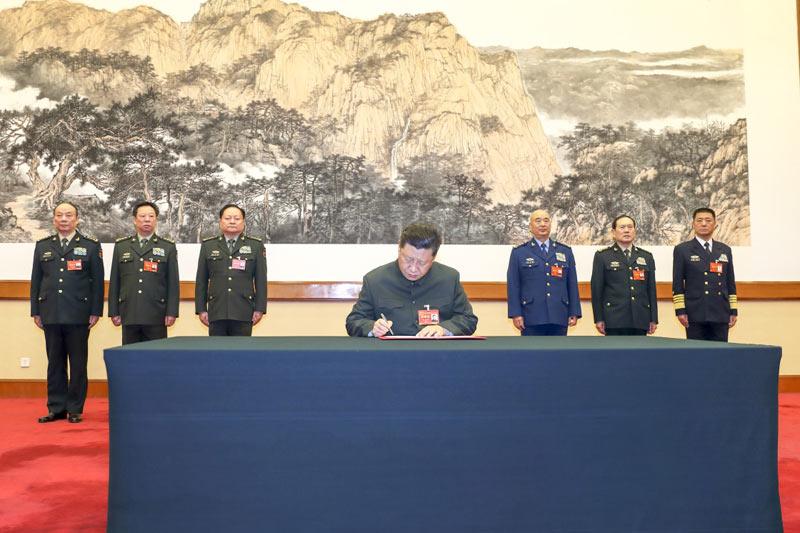 1月4日,中央军委军事工作会议在北京召开。中共中央总书记、国家主席、中央军委主席习近平出席会议并发表重要讲话。这是习近平签署中央军委2019年1号命令,向全军发布开训动员令。