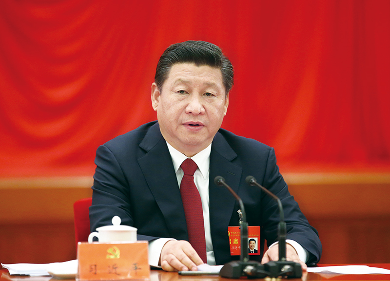 中国共产党第十八届中央委员会第四次全体会议,于2014年10月20日至23日在北京举行。中央委员会总书记习近平作重要讲话。 新华社记者 兰红光/摄