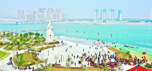 陈化成公园主体基本完工,成为市民休闲的好去处