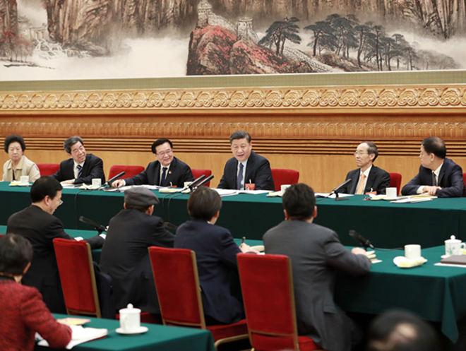 2019年3月8日,网上真人赌场:参加十三届全国人大二次会议河南代表团的审议。