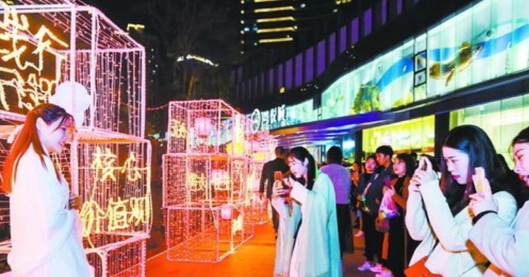 核心价值观主题花灯亮相元宵民俗文化节