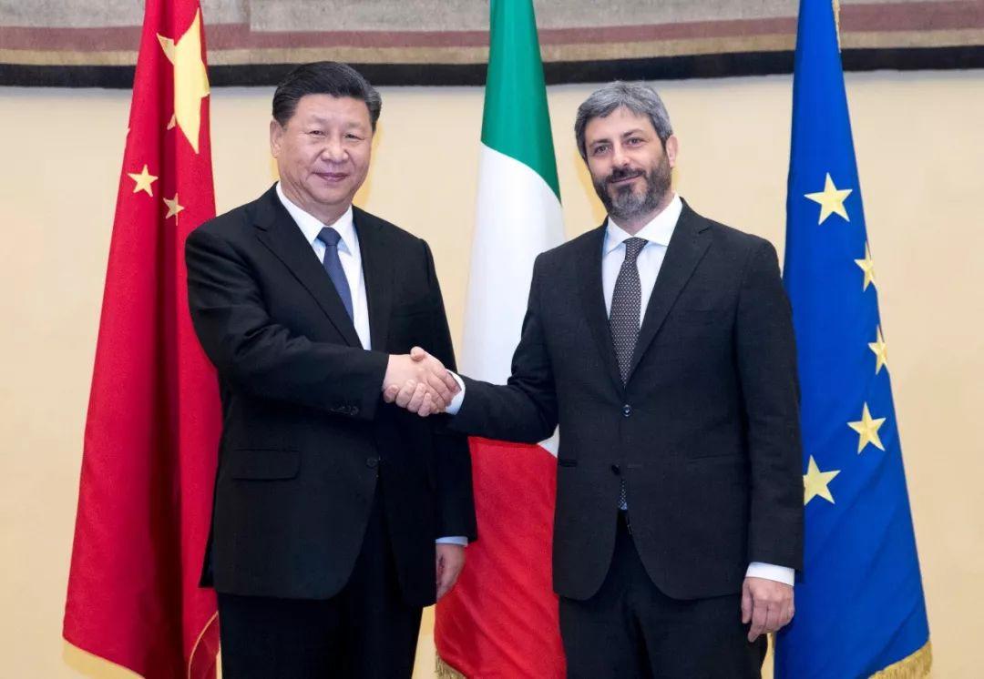 3月22日,国家主席习近平在罗马会见意大利众议长菲科。 新华社记者 王晔 摄