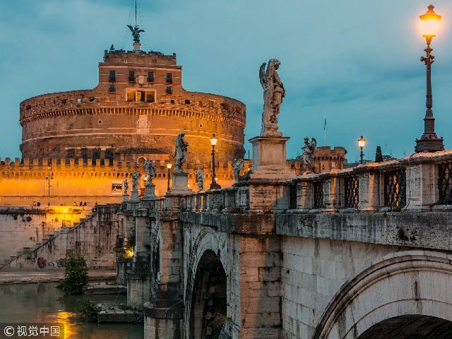 意大利罗马,圣天使堡