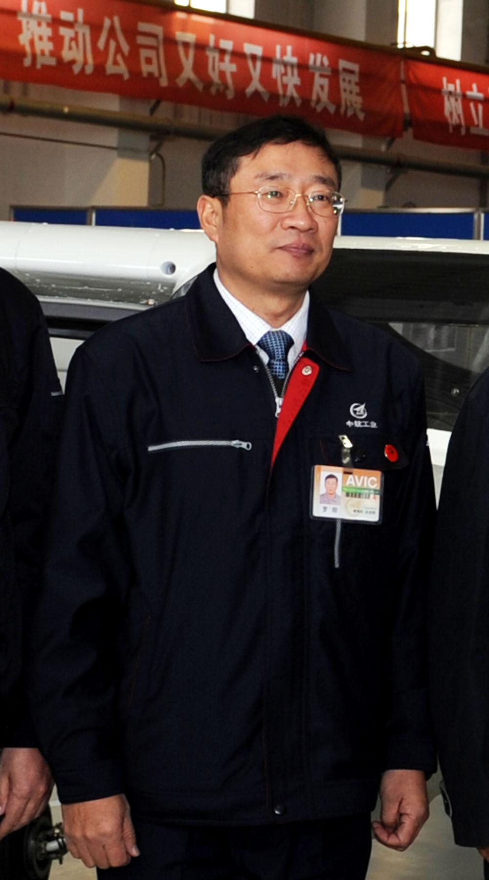 这是罗阳生前照片(2012年2月24日摄)。 新华社记者 李钢 摄