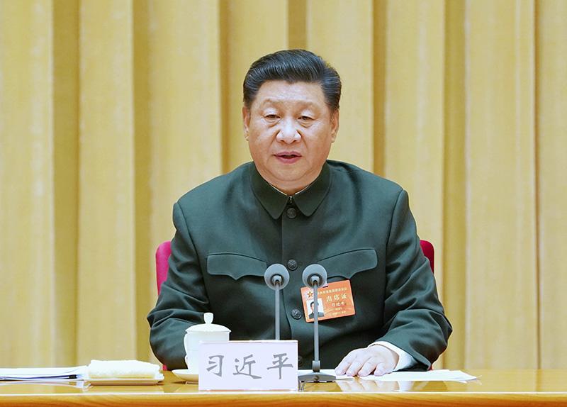 11月8日至10日,中央军委基层建设会议在北京召开。中共中央总书记、国家主席、中央军委主席习近平出席会议并发表重要讲话。新华社记者 李刚 摄