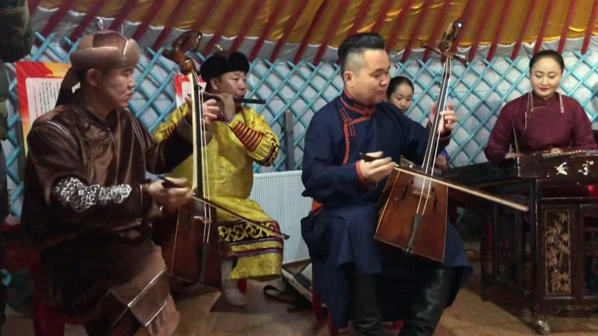 蒙古包内演出