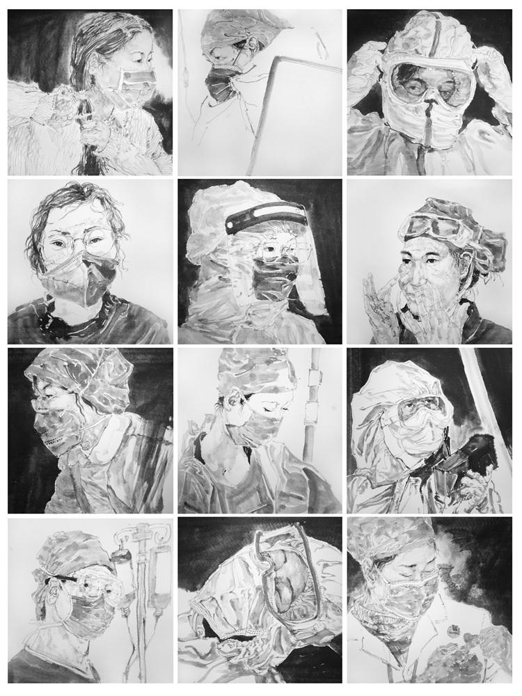 《最美逆行者》李振東    中國畫