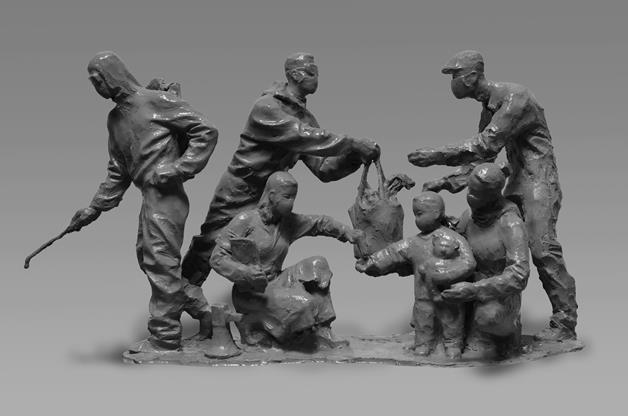 郎鉞 《愛心防火墻》 雕塑 2020年