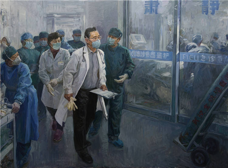 《武漢2020-1-19》  王漢英   油畫