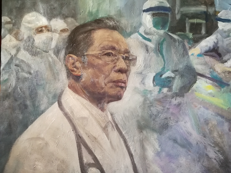 《戰疫》  李憲民  油畫