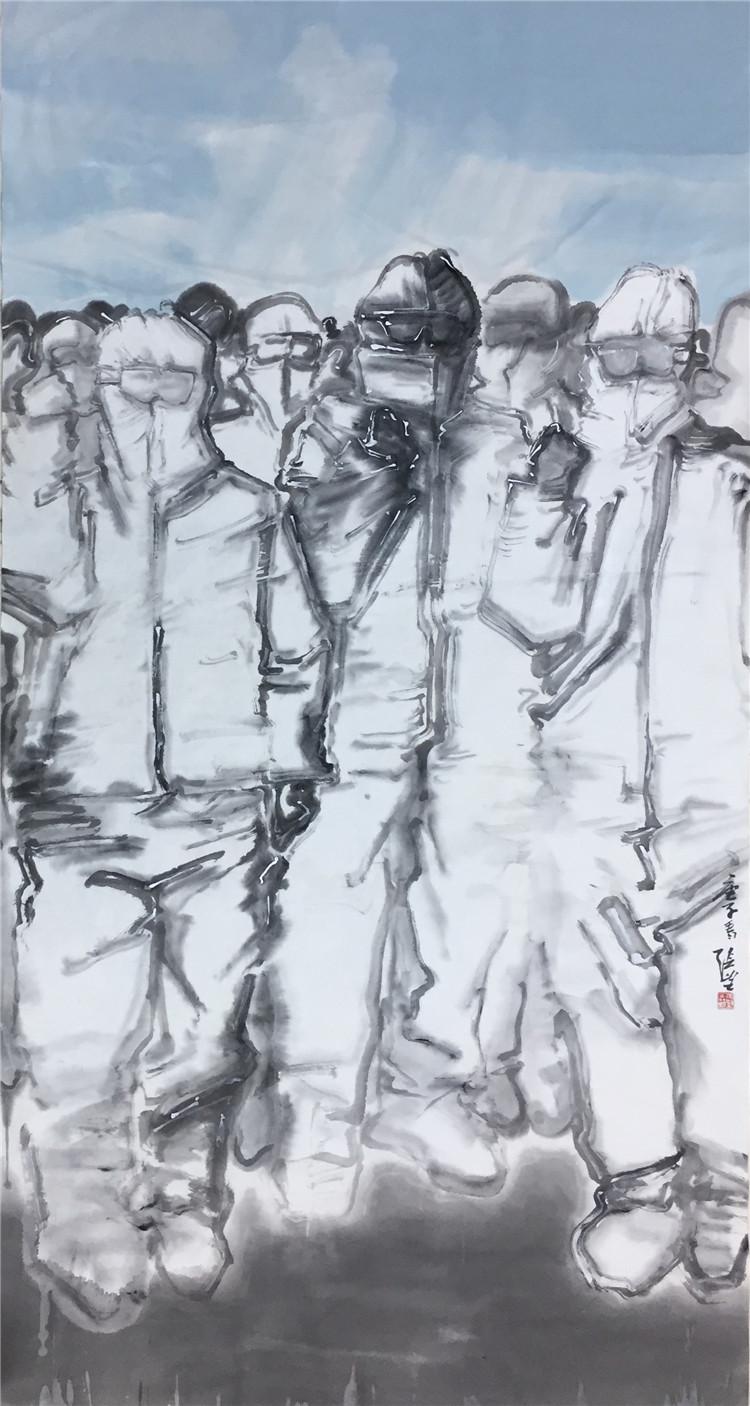 《決勝》張望   中國畫